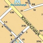 Kiev map in English - fragment