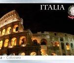 Сувенирный магнит на холодильник: Италия. Рим. Колизей