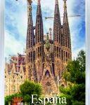 Сувенирный магнит на холодильник: Испания. Собор Святого Семейства (Барселона)