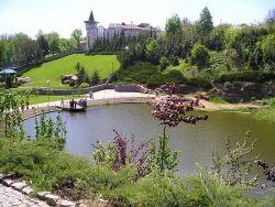 парк Умань - сплошные зелень и озёра