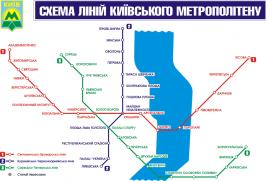карта метро Киева на украинском