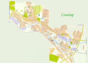 Соледар карта с улицами и номерами домов