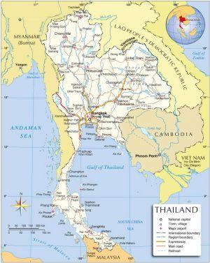 карта Тайланда | thailand map