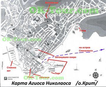 Агиос Николаос карта на русском