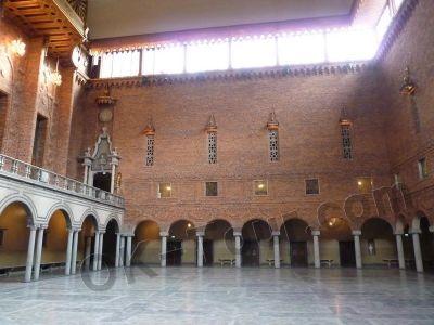 городская ратуша Стокгольма - банкетный зал -  city-hall-stockholm