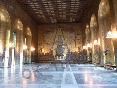 городская ратуша Стокгольма - голубой зал -  city-hall-stockholm