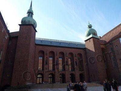 городская ратуша Стокгольма - внутренний двор -  city-hall-stockholm