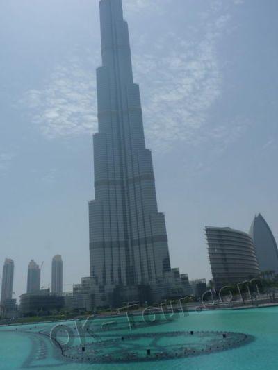 поющие фонтаны Дубай у подножья Бурж Халифа
