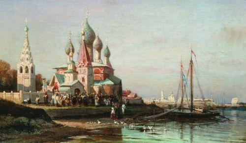Ярославль на картине Боголюбова Крёстный ход - 1824