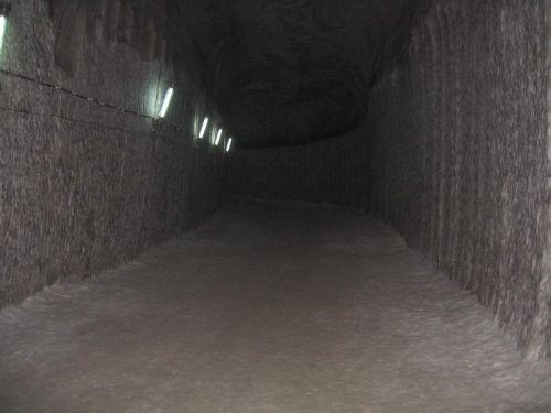 тунели соляной шахты Соледара
