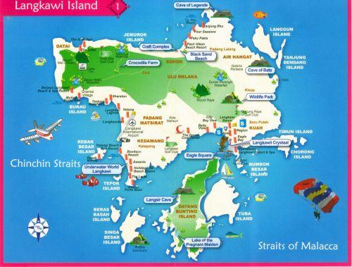 карта острова Лангикави (Малайзия)