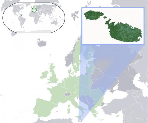 Мальта на карте