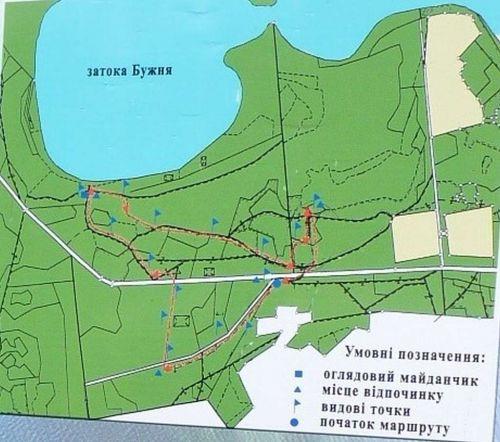 карта тропы Свитязанка