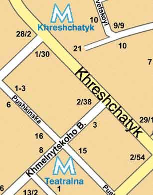 Карта киева административные районы