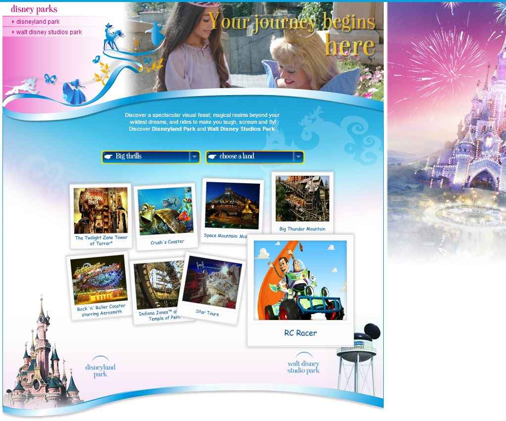 Disneyland Paris  réservation billets  Disneyland Paris